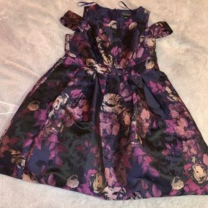 Purple floral prom dress 💜💜